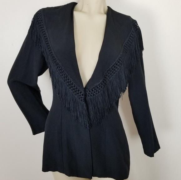 Vintage Jackets & Blazers - Vintage fringe Knapp studio jacket/blazer